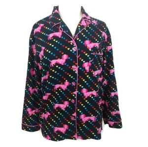 Victoria's Secret Doxie & Hearts Pajama Top